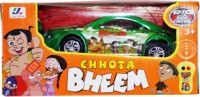 Turban Toys Remote Control Chotta Bheem Car With Light And Sound (Green)
