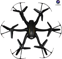 Emob 4 Channel 2.4G 6 Axis Gyro Hexacopter Quadcopter Drone With Radio Transmitter And Receiver With Camera (Black) (Multicolor)