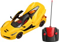 Saffire 1:16 Remote Controlled Ferrari With Opening Doors And Dicky (Yellow)