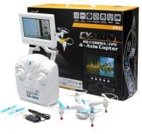 Toys Bhoomi New Arrival RC Quadcopter With 720p Camera + Monitor RTF (Multicolor)
