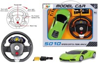 Toys Bhoomi Steering Wheel Controlled 1:16 Scale Rechargeable RC Lamborghini Aventador (Green)