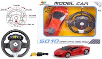 Toys Bhoomi Steering Wheel Controlled 1:16 Scale Rechargeable RC Lamborghini Aventador (Red)