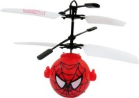 Cp Bigbasket Spider Man Fly Ball Cum Helicopter Toy For Kids (Red)