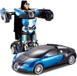 The Flyer's Bay Remote Control Toys The Flyer's Bay Troopers RC Transforming Bugatti Car cum Robot Simulation Model with Sound Light