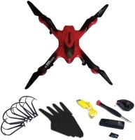 Emob Drone With A Key Return Headless Mode 6 Axis Gyro Quadcopter With HD Camera (Red) (Multicolor)