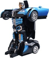 The Flyer's Bay One Button Transforming Bugatti Car Into Robot With Cool Dance Feature(Blue) (Multicolor)