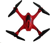 Vaibhav 6 Axis Gyro Quadcopter,2.4G Transmitter A Key Return Headless Mode With HD Camera (Red) (Red)