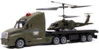 Meher Enterprises Combo Of Helicopter & Truck (military)