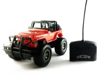 KBnBS Remote Control Rechargeable RC Urban Wrangler Jeep Car (High Torque Model) (Red)