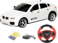 TOYBAZAAR Jackmean R-C Powerful Rechargeable Radio Control Toy With Steering [White] (White)