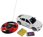 ECO SHOPEE Remote Control Toys ECO SHOPEE JACKMEAN WHITE RECHARGABLE CAR WITH STEARING