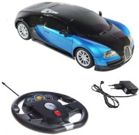 Scrazy Super Smart Blu Bugatti Car With Sensor Steering Car (Blue, Black)
