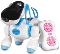 Toybee Smart Dog Robot Toy- Infrared Remote Control Series 2079 (White, Blue)