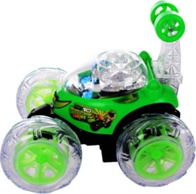 Dinoimpex Ben 10 Rmote Control Green Stunt Car (Green)
