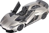 Saffire Lamborghini Aventador J Rechargeable RC Car With Opening Doors - Ready To Run RTR (Silver)