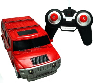 PremK Remote Control Toys PremK 1:24 Scale Rechargeable Remote Control Hummer Car Red