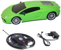 Baby First Lambogini Gravity Sensor R/C Car With Remote-Green(1:16 Radio Control) (Green)