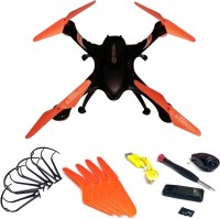Emob Drone With A Key Return Headless Mode 6 Axis Gyro Quadcopter With HD Camera (Orange) (Multicolor)