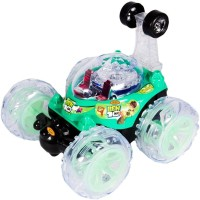 A R Enterprises Ben 10 Remote Control Rechargeable Stunt Car (Green)