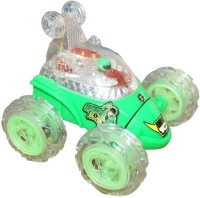 Zaprap Ben 10 Green Stunt Car For Kids (green)