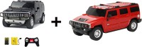 ECO SHOPEE REMOTE CONTROL 1:24 BLACK + RED HUMMER CAR TOY FOR KIDS (Black)