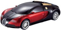 The Flyer's Bay One Button Transforming Bugatti Car Into Robot With Cool Dance Feature(Red) (Multicolor)