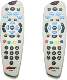 Tuscan Tata Sky DTH Set Top Box - Set Of 2pcs Remote Controller