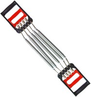 Fitness Chest Expander With Hand Grip 2 In 1 Resistance Tube (Red, Silver, Black)