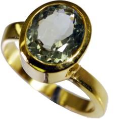 Riyo Enchanting Green Amethyst Copper Amethyst Yellow Gold Ring