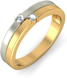 BlueStone The Dual Sonata For Her Gold Diamond Ring