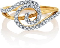 Karatcraft Infinity Swirl Yellow Gold Diamond 18 K Ring