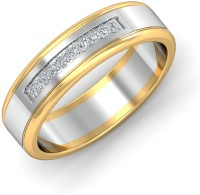 KuberBox Mer 2-tone Couple Band For Him Gold Diamond 14K Yellow Gold, 14K White Gold Plated 14 K Ring