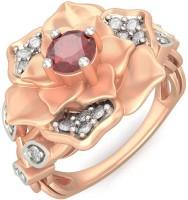 BlueStone Wild Rose Rose Gold Diamond, Ruby 14 K Ring
