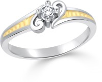 Classic Ultimate Solitare Gold & Rhodium Plated Ring For Women Size16 [CJ1037FRRG16] Alloy Cubic Zirconia White Gold 18 K Ring