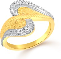 Classic Queen Plain Gold Plated Ring For Women Size12 [CJ1045FRG12] Alloy Cubic Zirconia Yellow Gold 18 K Ring