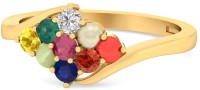 WearYourShine By PCJ The Mailsie Gold Diamond, Ruby, Emerald, Sapphire, Coral, Garnet, Cat's Eye 18 K Ring