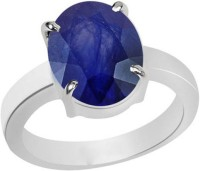 11 Astro Gems 5.5 Crts Blue Sapphire (Neelam) Silver Sapphire Ring