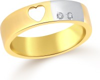 Classic Heart Band CZ Yellow Gold Plated Ring For Women Size16 [CJ1093FRG16] Alloy Cubic Zirconia Yellow Gold 18 K Ring