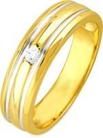 Jpearls Yellow Gold Diamond 18K Yellow Gold Plated 18 K Ring