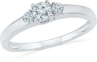 Radiant Bay Radiant Stone White Gold Diamond 14 K Ring