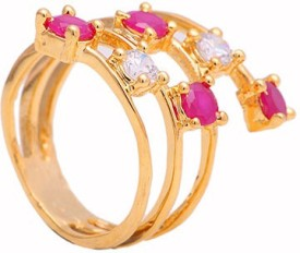 DC JEWELS Alloy Cubic Zirconia Yellow Gold Ring