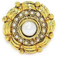 Zaveri Pearls Classic Indian Traditional Finger Alloy Pearl Ring
