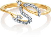 Karatcraft Twisted Gold Yellow Gold Diamond 18 K Ring