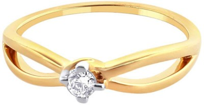 Sangini Sangini Gold Diamond 18K Yellow Gold Plated 18 K Ring (Multicolor)