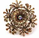 Khoobsurati Rusty Coral Vintage Metallic Metal Ring
