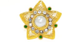 Zaveri Pearls Pearl With Star Pattern Traditional Bridal Alloy Pearl Ring