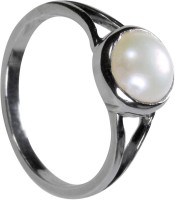 Pearl Paradise Emblem Of Eternity Silver Pearl Silver Plated Ring