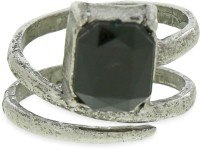 Fabula Black Stone Layered Metal Ring