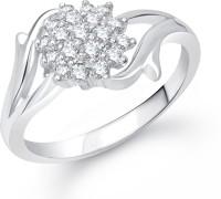 VK Jewels Flowery Dreams Alloy Cubic Zirconia Rhodium Ring