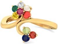 WearYourShine By PCJ The Gazit 18kt Diamond, Ruby, Emerald, Sapphire, Coral, Garnet, Cat's Eye Yellow Gold Ring